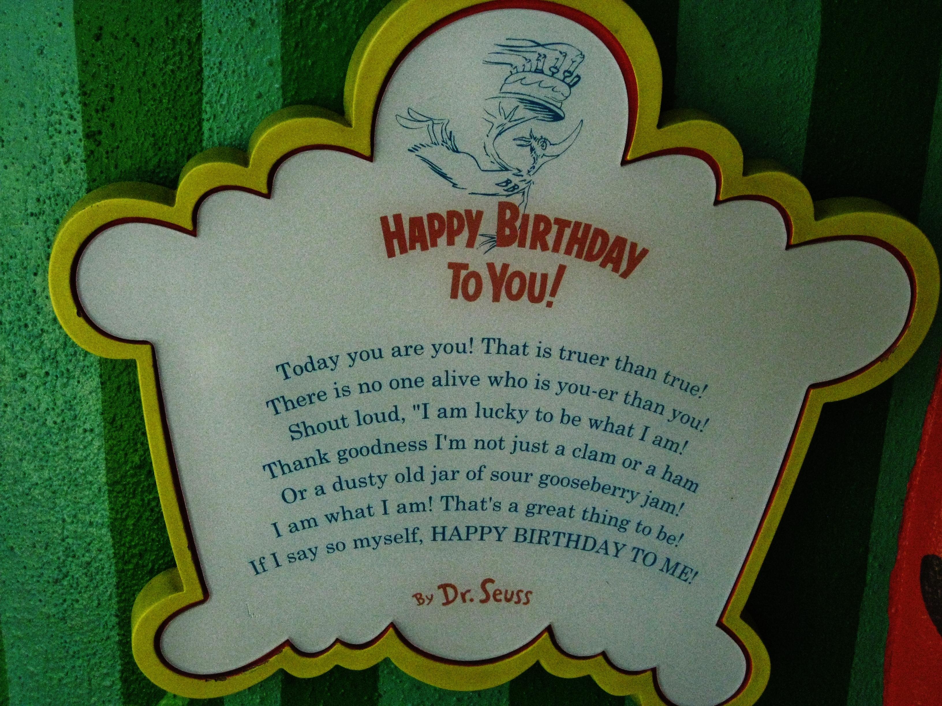 Dr. Seuss Birthday Poem